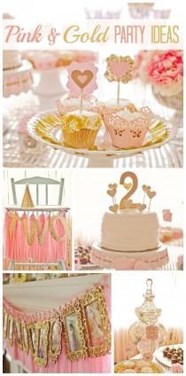 "wedding photo - Pink And Gold / Birthday ""Bridget's Pink And Gold 2nd Birthday"""