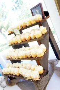 wedding photo - Soporte de la magdalena Rústico
