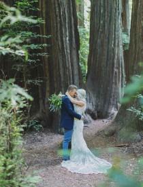 wedding photo - Rustic-Bohemain Wedding in the Redwood Forest: Ashley + Cheyne