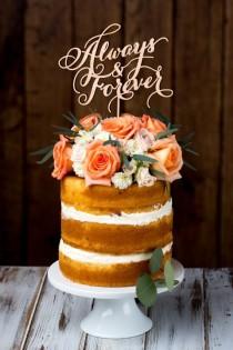 wedding photo - Wedding Cake Topper - Siempre Y Para Siempre - Abedul