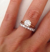 wedding photo - Vintage Old Mine Cut 1.38 Carat Solitaire Diamond 14k Engagement Ring