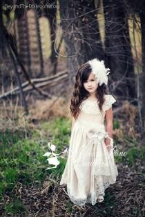 wedding photo - Supreme Elegant Flower Girl Dress