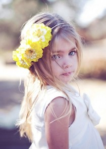 wedding photo - OLIVIA - FLower Girl Halo Headband