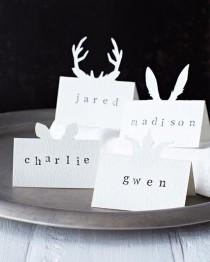 wedding photo - Lova's World: Animal Placecards