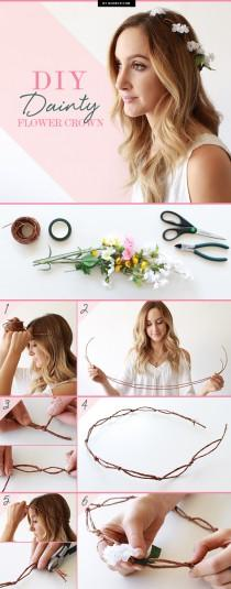 wedding photo - DIY Flower Crowns