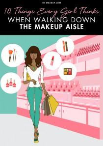 wedding photo - 10 Things Every Girl Thinks When Walking Down the Makeup Aisle
