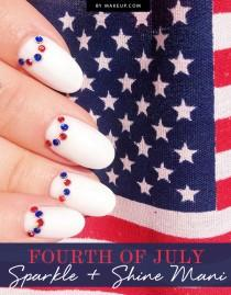 wedding photo - Fourth of July Sparkle + Shine Mani