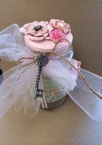 wedding photo - Shabby Chic Decorative Jar