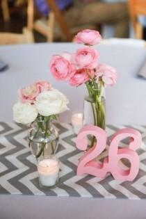 wedding photo - Pink And Chevron