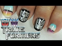 wedding photo - Transformers Nail Art