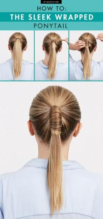wedding photo - How To: The Sleek Wrapped Ponytail