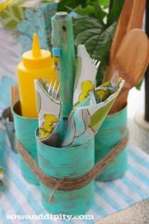 wedding photo - Soupe Can Caddy -