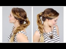wedding photo - Twisted Rope Braid Ponytail For Back To School