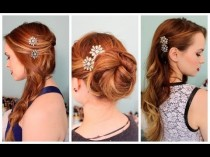 wedding photo - 3 Quick Hairstyles For Sparkly Hair Accessories!