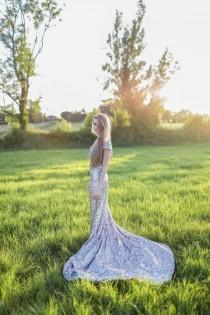wedding photo - De Havilland - Old Hollywood Argento Wedding Gown