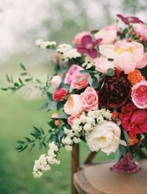 wedding photo - Crimson And Burgundy Wedding Flowers