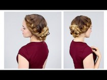 wedding photo - Quick Braided Updo For Back To School