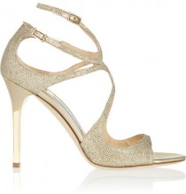 75a7000eee0 Jimmy Choo Lang textured-lamé sandals