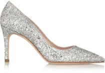 wedding photo - Miu Miu Glitter-finished leather pumps