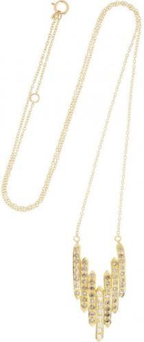 wedding photo - Halleh Wing 18-karat gold diamond necklace