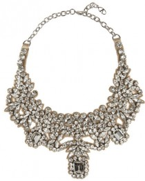 wedding photo - Valentino Silver-plated Swarovski crystal necklace