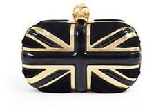 wedding photo - Alexander McQueen Union Jack Skull Clutch