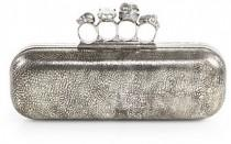 wedding photo - Alexander McQueen Tarnished Knuckle-Duster Clutch
