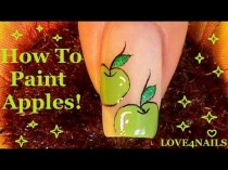 wedding photo - Back To School Nail Art Design Tutorial ~ Apples!