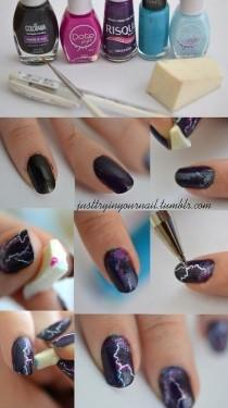 wedding photo - Lightning Nails Are The New Galaxy Nails