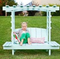 wedding photo - How to Make Kids Arbor Bench - DIY & Crafts - Handimania