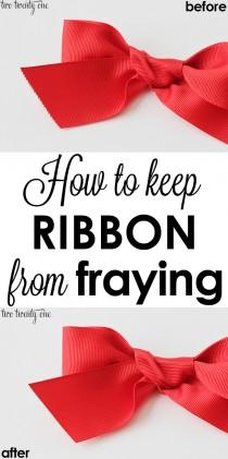wedding photo - How To Keep Ribbon From Fraying