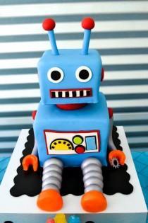 wedding photo - Robot Birthday Party Ideas Supplies Idea Cake Planning Decorations