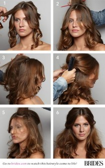 wedding photo - Wedding Hairstyles 101: How To DIY This Dreamy Half-Up 'Do