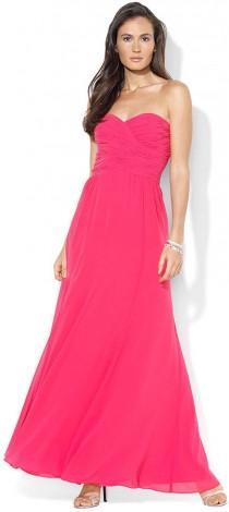 wedding photo - Lauren Ralph Lauren Strapless Evening Gown