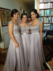 wedding photo - Lace Bridesmaid Dresses Satin Chiffon Bridesmaid Dresses See Through Back Bridesmaid Dresses Prom Dresses Party Dresses 2014 New Fashion