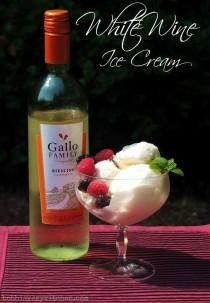 wedding photo - White Wine Ice Cream
