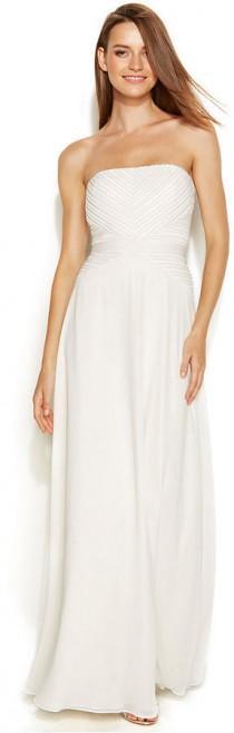 wedding photo - Calvin Klein Strapless Pleated Bridal Gown