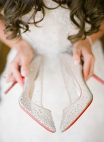 wedding photo - Beaded Christian Louboutin Bridal Shoes