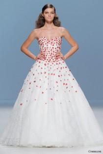 wedding photo - Bold Colored Wedding Dresses By Cymbeline Bridal 2015