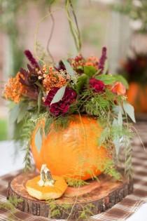 wedding photo - Fall And Pumpkin Outdoor California Wedding
