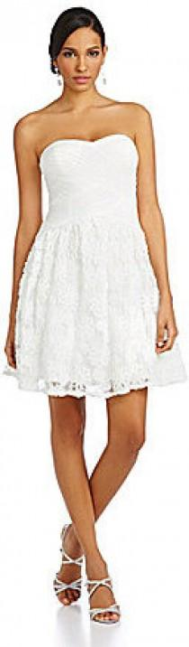 wedding photo - Hailey by Adrianna Papell Sweetheart Rosette Fit-and-Flare Dress