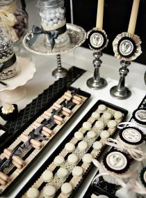 wedding photo - Vintage-Gothic Wedding Dessert Table