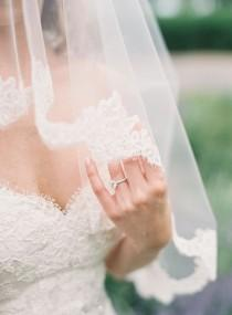 wedding photo - Lace Trimmed Veil1