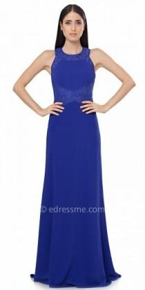 wedding photo - JS Collections Criss Cross Lace Detail Evening Dress