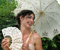 wedding photo - Free Shipping Lace Fan And  Wedding Umbrella Lace Parasols