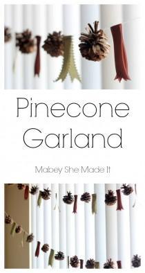 wedding photo - Pinecone Garland