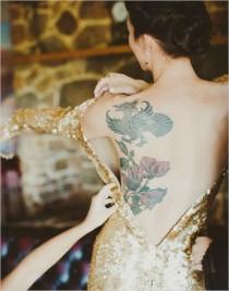 wedding photo - Our 10 Favorite Tattooed Brides