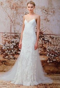 wedding photo - Monique Lhuillier Wedding Dresses Fall 2014 Bridal Runway Shows