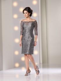 wedding photo - Lace Knee-length Mother of the Brides Dress