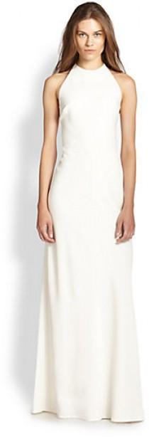wedding photo - Theory Cameron Lace Up-Back Halter Gown